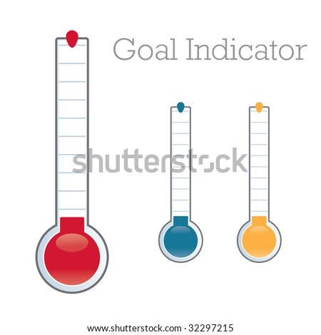thermometer graphic showing progress towards fundraiser goal