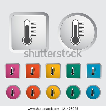 Thermometer icon. Vector illustration. - stock vector