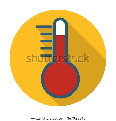 Thermometer Icon Vector. Thermometer Icon Flat. Thermometer Icon App. Thermometer Icon Web. Thermometer Icon Logo. Thermometer Icon Sign. Thermometer Icon Symbol. Thermometer Icon Object.  - stock vector