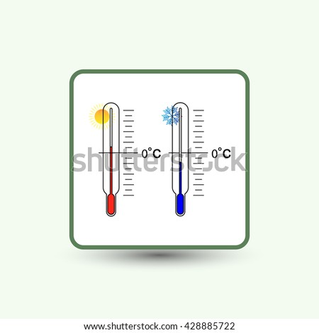 thermometer icons with hot temperatures