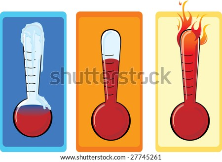 Thermometer Set - stock vector