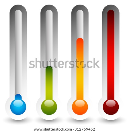 Thermometer set. Vector illustration. - stock vector
