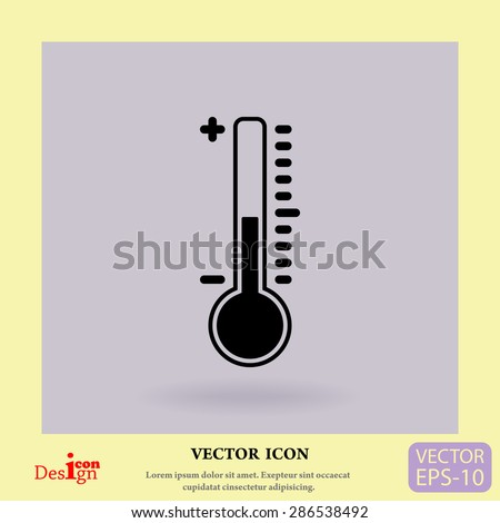 thermometer vector icon - stock vector