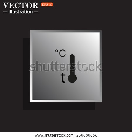 Thermometer , vector illustration, EPS 10