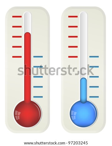 Thermometers, 10eps. - stock vector