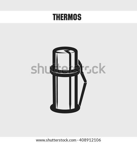 thermos cartoon icon. vector illustration - stock vector