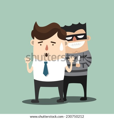 Thief - stock vector