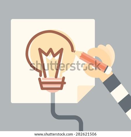 thief copy idea, intellectual criminal concept - stock vector