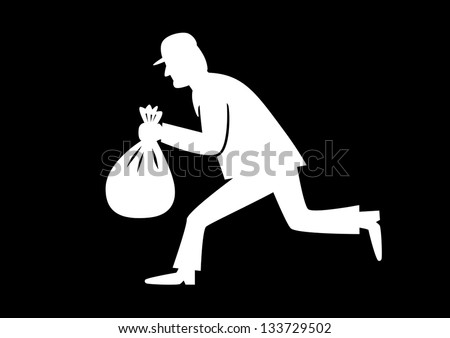 Thief icon - stock vector
