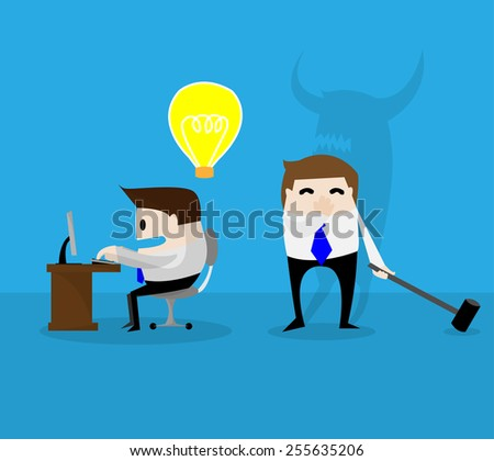 Thief other ideas - stock vector