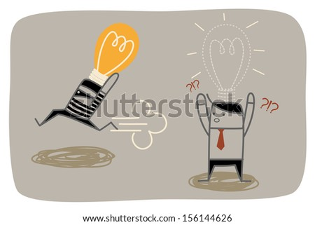 thief steal business man idea concept - stock vector