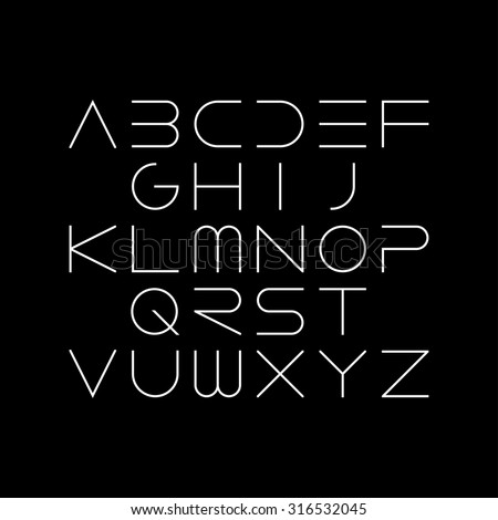 thin font futuristic font cosmic font stock vector Typewriter Silhouette Vector Typewriter Keys