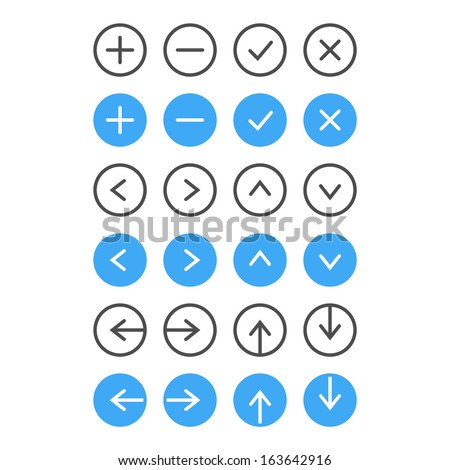 Thin Icon Set. Navigation And List Management. Vector - stock vector