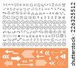 thin line arrow icons set  - stock vector