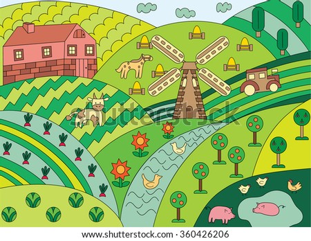 tiny house village concept design cartoon map hyde park london stock vector 94457401 shutterstock