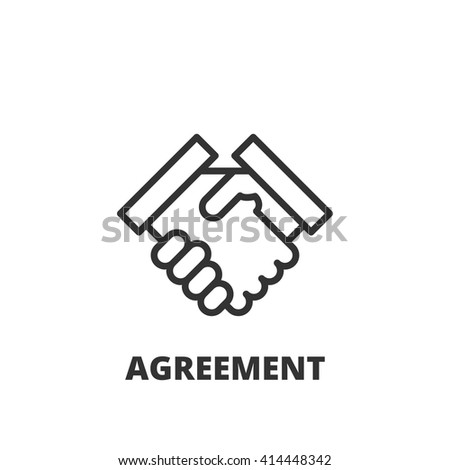 Thin line icon. Flat symbol about business. Agreement - stock vector
