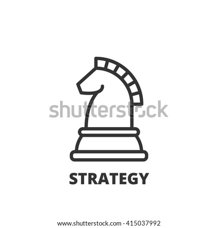 Thin line icon. Flat symbol about business. strategy - stock vector