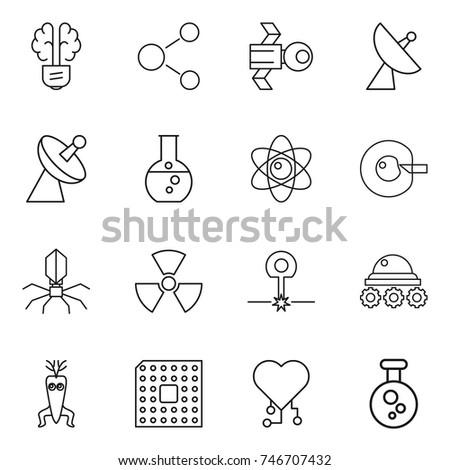 Molecular Biology Medicine Science Vector Icons 224464222