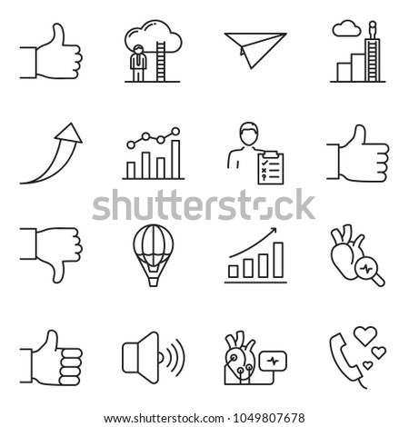 Thin line icon set chart vector stock vector hd royalty free thin line icon set chart vector career ladder growth arrow finger thecheapjerseys Choice Image