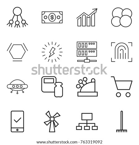 Thin line icon set share money stock vector 763319092 shutterstock thin line icon set share money diagram atom core hex molecule ccuart Image collections