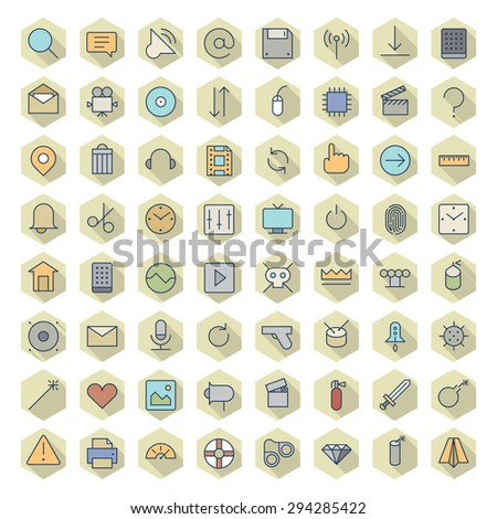 Thin Line Icons For User Interface. Vector eps10. - stock vector