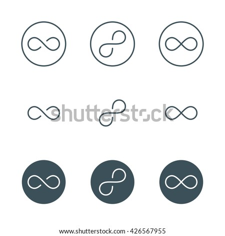 Thin Line Infinity Symbol Sign Infinite Stock Vector 426567955