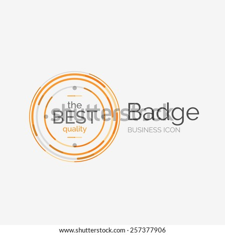 Thin line neat design logo, clean modern concept, premium quality stamp - stock vector
