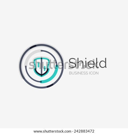 Thin line neat design logo clean stock illustration for Modern cleaning concept