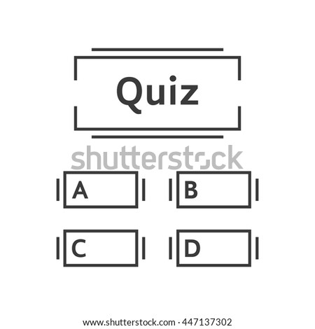 Thin Line Quiz Game Template. Concept Of Intelligence, Game Time, Contest,  Examination  Contest Form Template