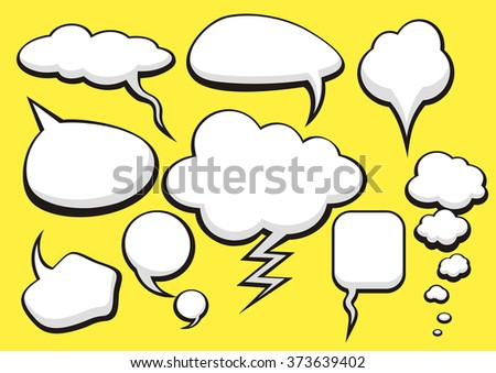 Think bubble set. Talk bubble collection sketch drawing. Thought sketch bubbles. Sketchy comic speech bubble. Hand drawn set sketch speech bubbles clouds rounds. Thought doodle bubbles design elements - stock vector