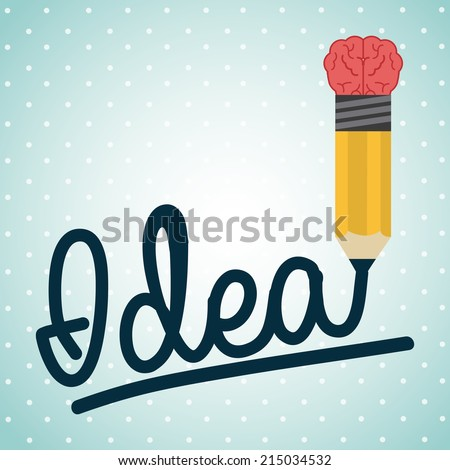 think design over dotted background vector illustration