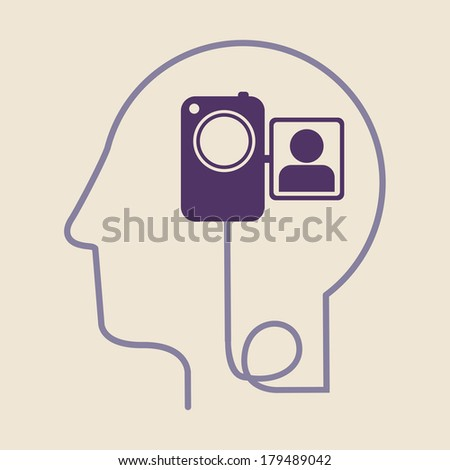 think design over white  background vector illustration - stock vector