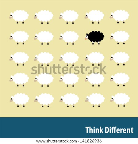 Think Different - stock vector