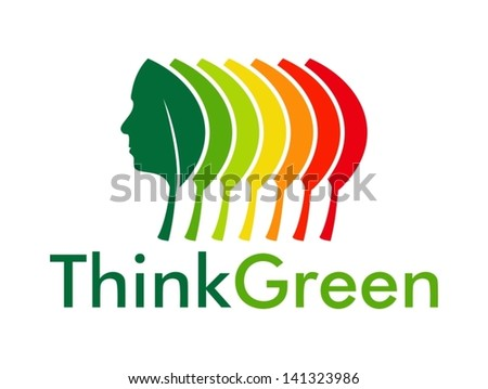 Think Green and energy efficiency - stock vector