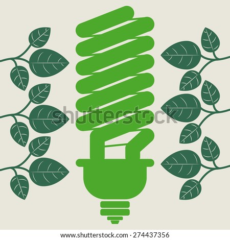 Think green design over white background, vector illustration