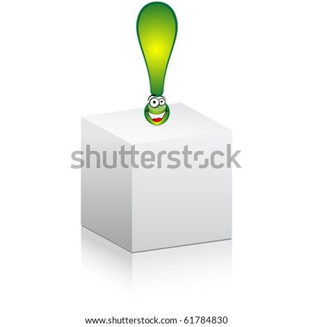think outside of box - stock vector