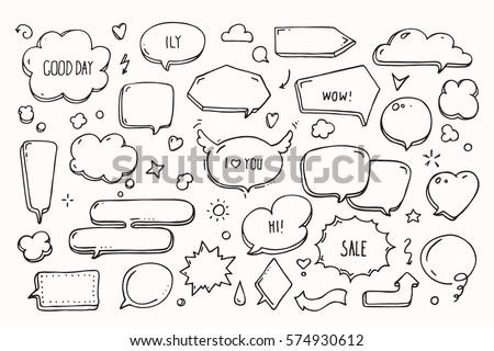 Think talk speech bubbles love message stock vector 2018 574930612 think talk speech bubbles with love message greetings and sale ad artistic collection m4hsunfo
