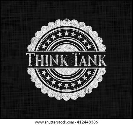Think Tank on chalkboard - stock vector