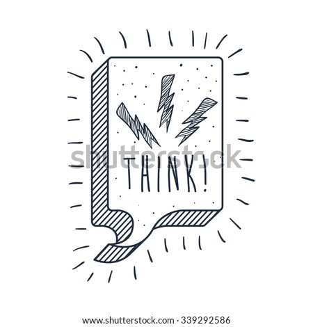 think text balloon design, vector illustration eps10 graphic  - stock vector