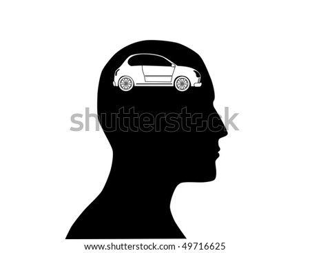Think to buy car - stock vector