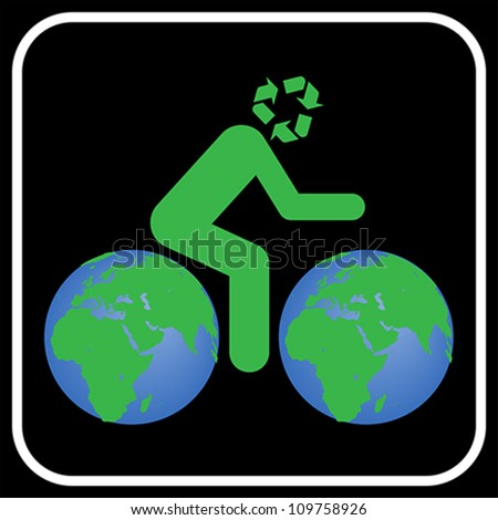 Thinking about earth, vector - stock vector