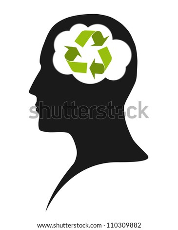 Thinking about the future - stock vector