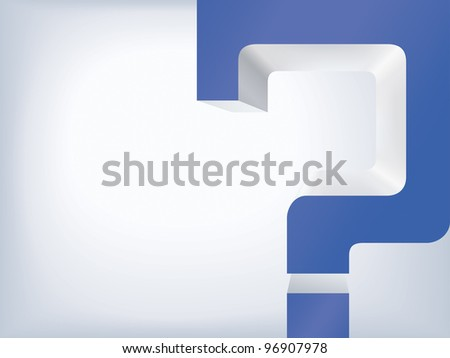 Thinking concept. Question mark on the white background - stock vector