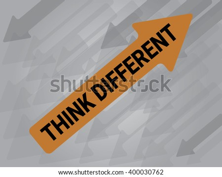 Thinking Differrent on arrow, different idea business concept, EPS10 Vector Illustration - stock vector