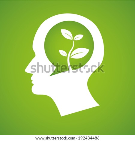 Thinking Head tree Vector illustration