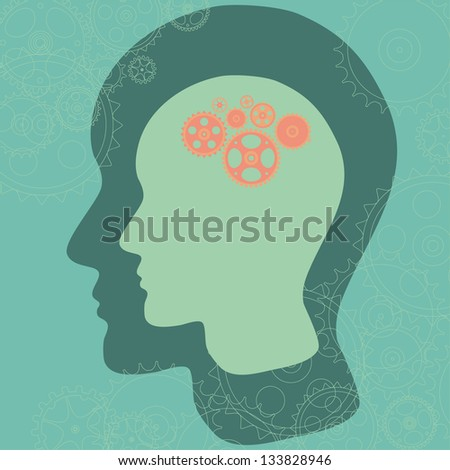 Thinking mind - stock vector