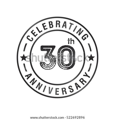 30th anniversary logo stock images, royalty-free images & vectors