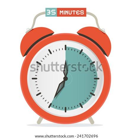 Thirty Five Minutes Stop Watch - Alarm Clock Vector Illustration  - stock vector