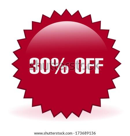 Thirty Percent Discount Sticker - stock vector