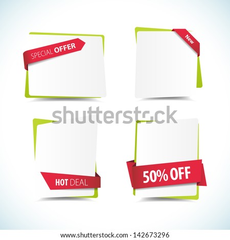 This image is a vector file representing a collection of labels. / Labels / Labels - stock vector